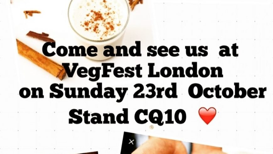 See us at VegFest London this Sunday!