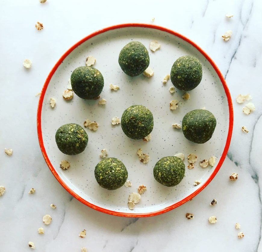 Tropical Matcha Tiger Nut Bites