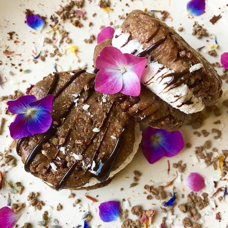 Healthy Ice Cream Cookie Sandwiches