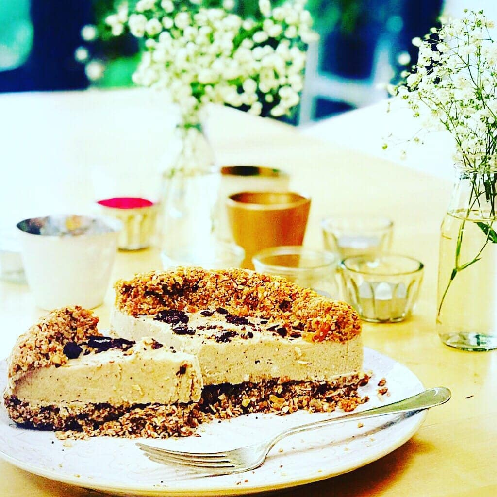 Raw Apricot & Walnut Cheesecake