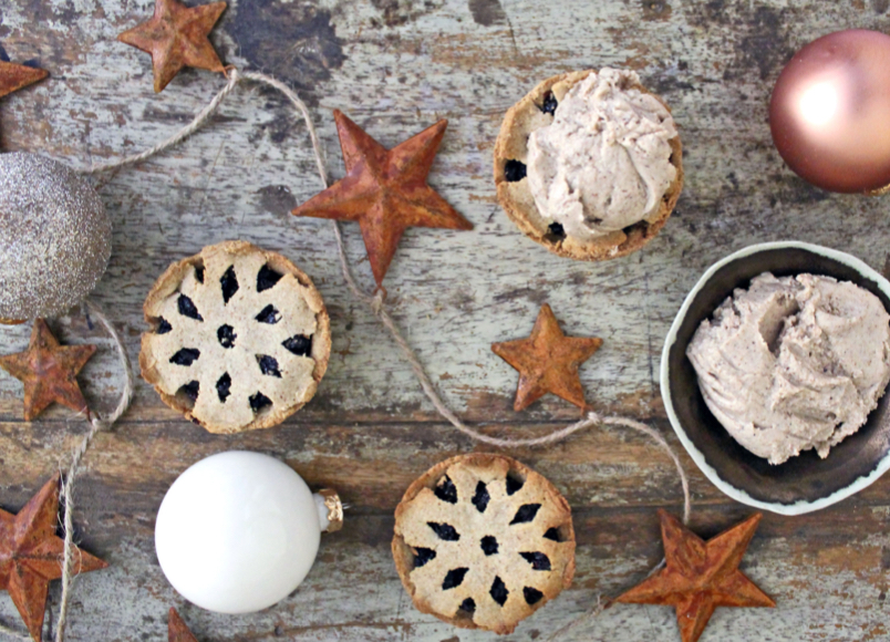 Healthy Mince Pies with Cinnamon Butter!