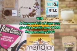 To celebrate World Tiger Nut Day we are giving away £100 of Tiger Nut goodies!