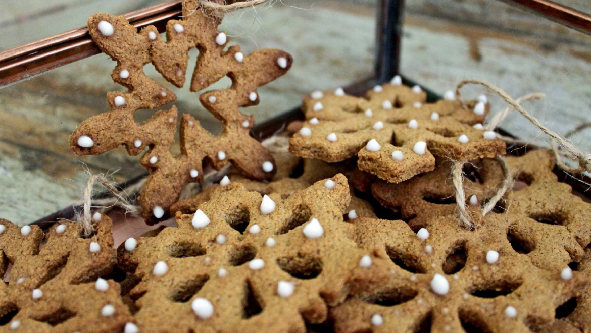 Festive Gingerbread Snow Flakes